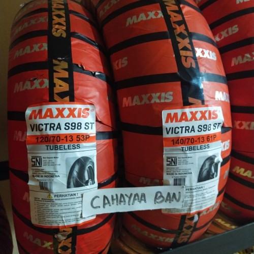 Foto Produk PROMO PAKET BAN LUAR NMAX SEPASANG 120/70-13 DAN 140/70-13 MAXXIS dari cahayaa ban