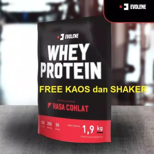Foto Produk Evolene Whey Protein 1,9 KG - Coklat dari AizaShop03