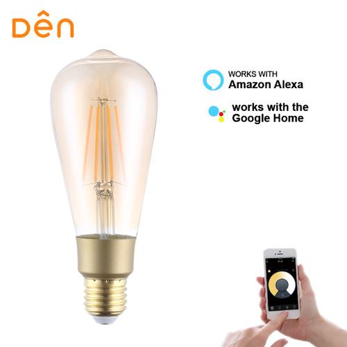 Foto Produk Den Smart Home Filament Bulb 6W ST64 CCT (2000K - 5000K) dari Den Smart Home