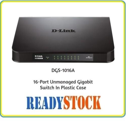 Foto Produk DLINK DGS-1016A 16-Port Unmanaged Gigabit Switch dari READY STOCK JARINGAN