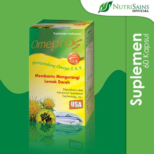 Foto Produk Omepros Isi 60 Soft Capsule Suplemen Kesehatan Penurun Kolesterol dari Nutrisains Official