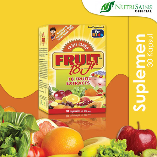 Foto Produk Fruit 18 Jr 30 Kapsul dari Nutrisains Official