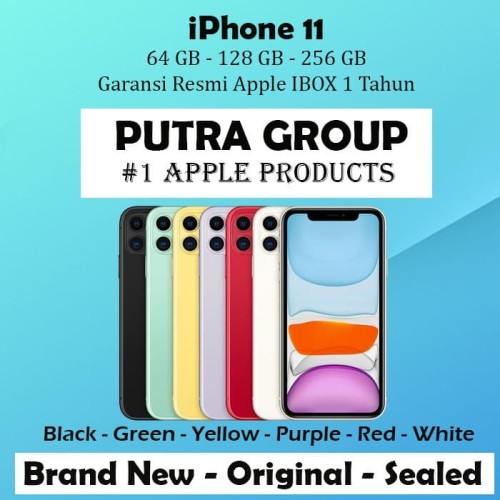 Foto Produk (IBOX) iPhone 11 64GB 128GB 256GB Garansi Resmi TAM 1 Tahun 64 128 256 - 64GB, White dari Putra Group