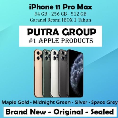 Foto Produk (IBOX) iPhone 11 PRO MAX 64GB 256GB 512GB Garansi Resmi TAM 64 256 512 - 64GB, Maple Gold dari Putra Group