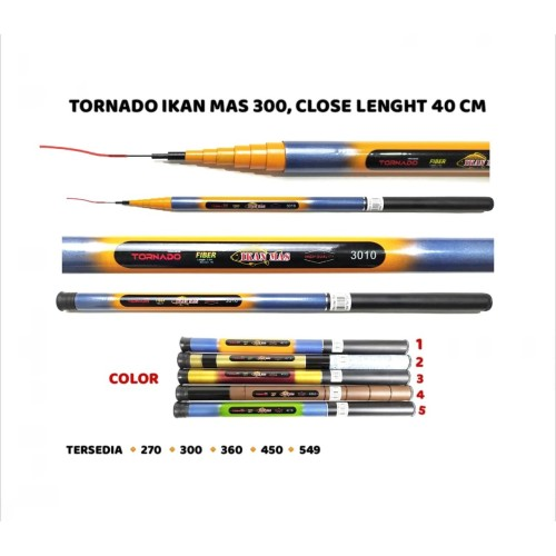 Foto Produk JORAN TEGEK TORNADO IKAN MAS 3010 300 CM dari MATANO FISHING
