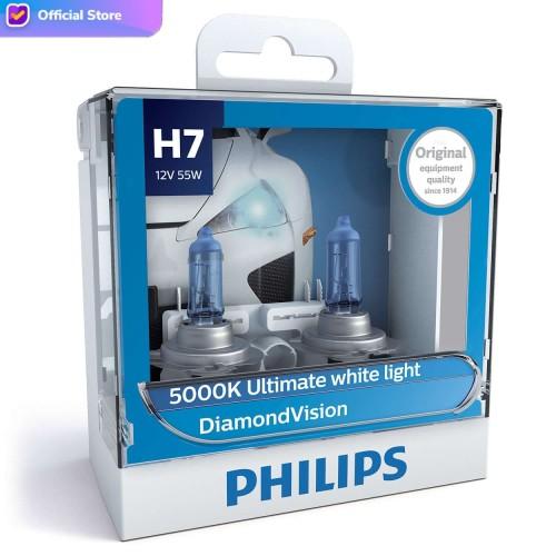 Foto Produk Philips Diamond Vision 5.000K H7 Bohlam Lampu Mobil Putih dari Depo Oto