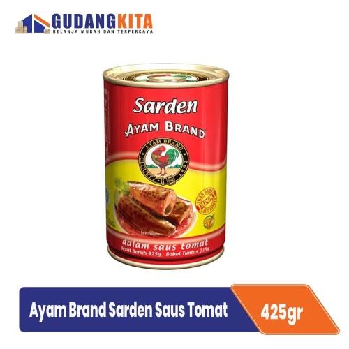 Foto Produk Sarden Kaleng Saus Tomat Bulat Ayam Brand 425g - Sardines in Tomato dari GUDANGKITA COM