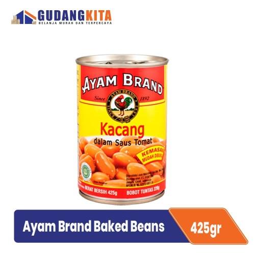 Foto Produk Kacang Panggang Rendah Lemak Ayam Brand - Baked Beans 425g dari GUDANGKITA COM