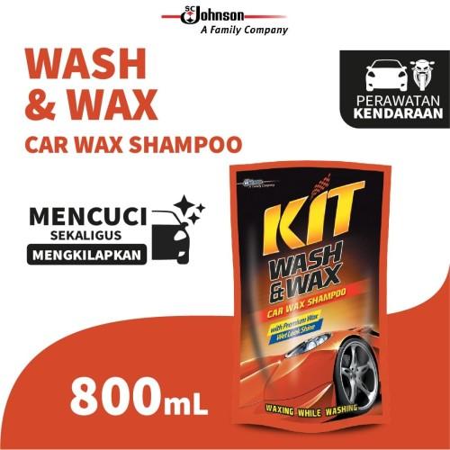 Foto Produk Kit Wash & Wax Pouch 800mL - Shampoo Mobil dengan Wax dari KIT Autocare