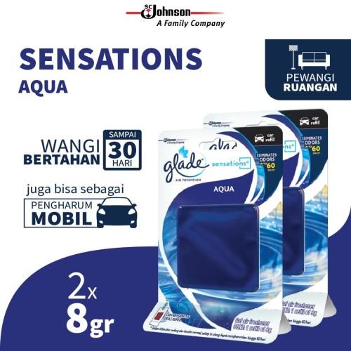 Foto Produk [Dapat 2 pcs] Glade Sensations Refill Aqua 8gr dari KIT Autocare