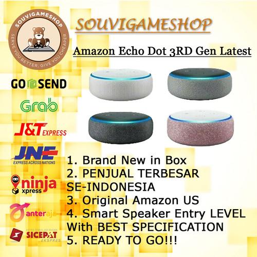 Foto Produk PROMO MURAH Amazon Echo Dot 3rd Gen Alexa Voice Control Smart Speaker - Charcoal Black dari souvigameshop