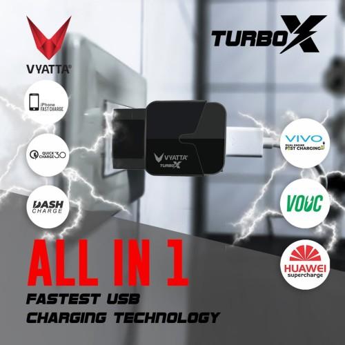 Foto Produk VYATTA TURBO Charger Quick Charge 3.0 - GARANSI 12 BULAN TANPA BATAS - Hitam dari VYATTA INDONESIA