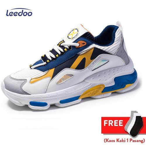 Foto Produk Leedoo Sepatu Sneakers Pria Sepatu Olahraga Kasual Import MD102 - 39 dari Leedoo