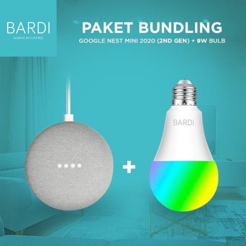 Foto Produk Google nest Mini + BARDI Smart Light bulb 9W RGBWW - Hitam dari Bardi Official Store