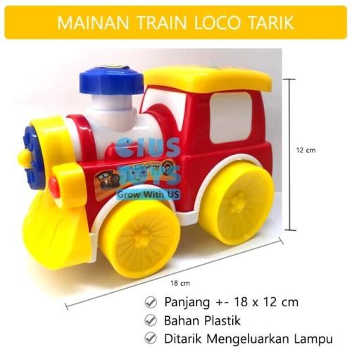 Foto Produk Cartoon Train Tarik LT68 | Mainan Kereta Api Lampu dari ciustoys