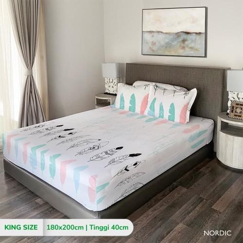 Foto Produk King Rabbit Sprei King uk. 180x200cm Bambu NORDIC dari King Rabbit Official
