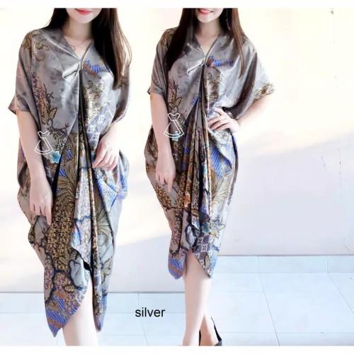 Foto Produk Dress Wanita / Dress Kaftan / Kaftan Batik / Bahan Katun Adem - Silver dari Fraire Collection