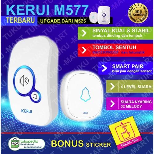 Foto Produk KERUI bell bel pintu pagar rumah wireless waterproof dari Tuku-Mart