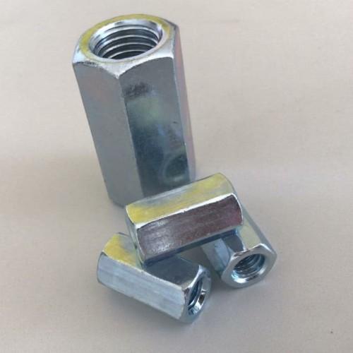 Foto Produk Long nut M10 x P 1.5 - panjang 30 mur panjang / coupling Galvanis dari AA Baut Dan Mur