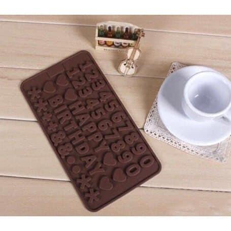 Foto Produk Cetakan Silikon 123 Es Kue Coklat Puding Angka Happy Birthday Silicone dari PakGrosir