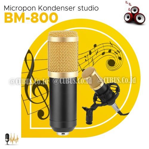 Foto Produk Microphone PODCAST BM-800 Kondenser Studio dengan Shock Proof Mount dari Cubus_Co_ID