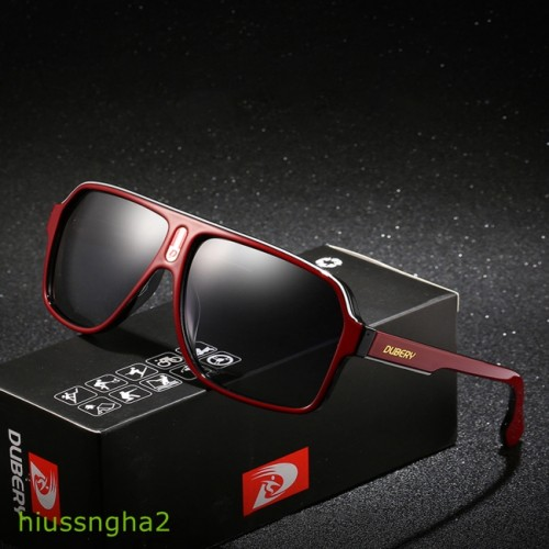 Foto Produk DUBERY D103 Polarized Sunglasses UV400 Square Pilot Driving Riding dari The Gold Master