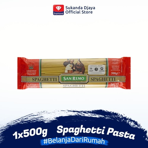 Foto Produk San Remo Pasta Spaghetti 500 g dari Sukanda Djaya Home