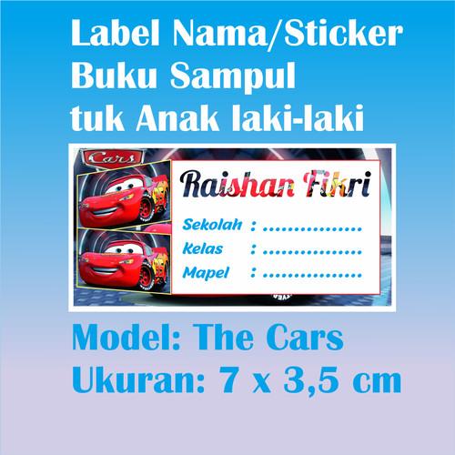Foto Produk Stiker Label Nama Pelajaran buat Laki-Laki --uk. 7 x 3,5 --50 lembar dari ZahraRabbani