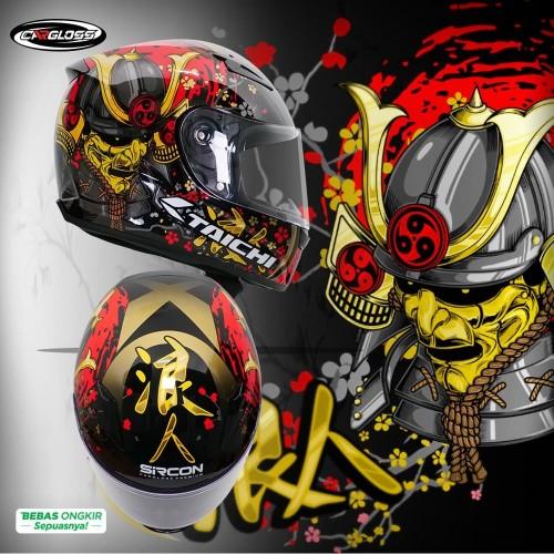 Foto Produk Cargloss Sircon CR Taichi RONIN Helm FullFace - Black - XL dari Helm Cargloss