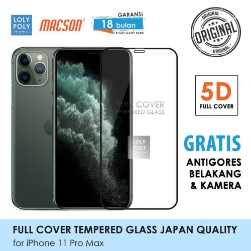 Foto Produk Lolypoly Tempered Glass 5D Iphone 11 / 11 Pro / 11 Promax - iPhone 11ProMax dari lolypoly