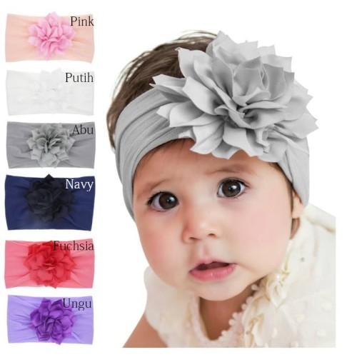 Foto Produk Bandana Anak Lucu / Bandana Bayi / Headband Bayi Cantik / Bando Anak - Putih dari M&K ( Mom & Kids)