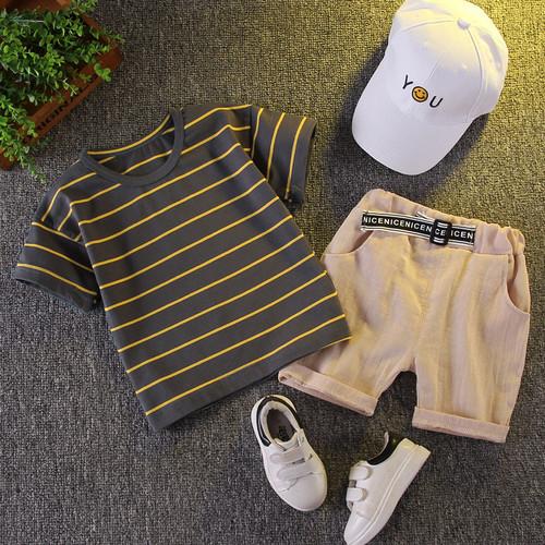 Foto Produk setelan kaos celana anak laki laki import setelan baju anak laki laki - Abu-abu, 80 dari Beast On Street