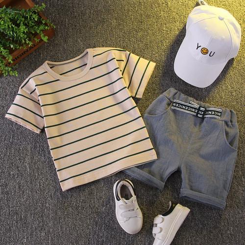 Foto Produk setelan kaos celana anak laki laki import setelan baju anak laki laki - cream, 80 dari Beast On Street