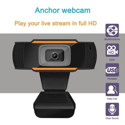 Foto Produk Kamera Webcam USB 1080p 720p 480p Built-In Microphone PC Komputer - 480P dari Central Electronic