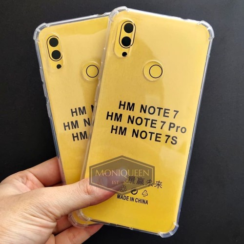Foto Produk Xiaomi Redmi Note 7 Anti Crack Case Casing / Anticrack case softcase dari MoniQueenShop