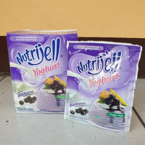 Foto Produk [satuan] NUTRIJELL Jelly Powder YOGHURT rasa BLACKCURRANT 35 gram dari Aimee Bag & Plush Toys