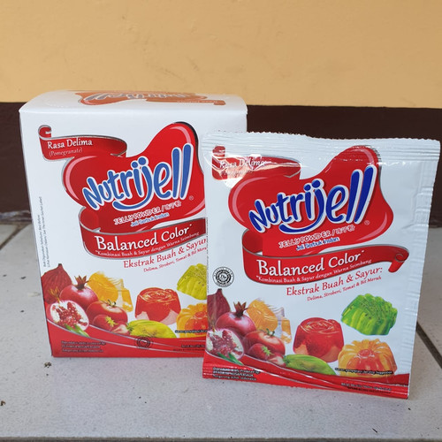 Foto Produk [satuan] NUTRIJELL Jelly Powder BALANCED COLOR rasa DELIMA 15 gram dari Aimee Bag & Plush Toys