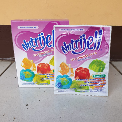 Foto Produk [satuan] NUTRIJELL Jelly Powder Rasa ANGGUR / GRAPE 15 gram dari Aimee Bag & Plush Toys