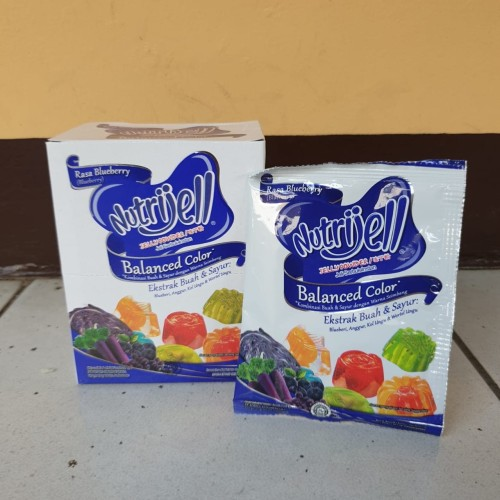 Foto Produk [satuan] NUTRIJELL Jelly Powder BALANCED COLOR rasa BLUEBERRY 15 gram dari Aimee Bag & Plush Toys
