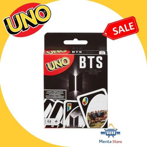 Foto Produk UNO Card BTS Mattel Games Original Edition Cards Kartu Boy Band Kpop dari Menta Store