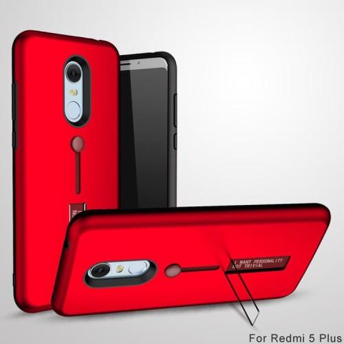 Foto Produk Xiaomi Redmi 5 Plus Silicone Ring Stand Luxury Soft Gel Armor Case dari Megascarlet