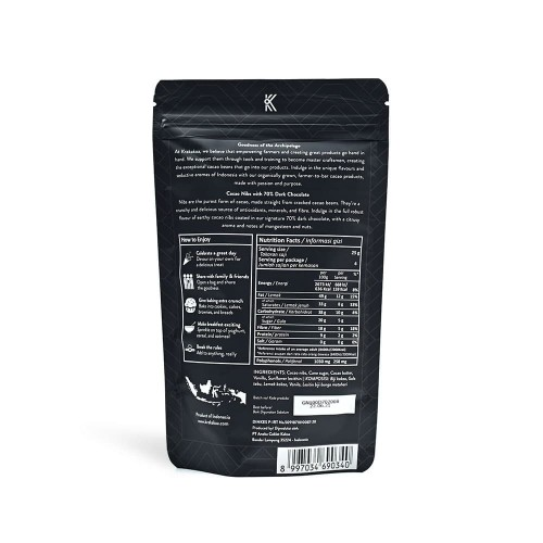 Foto Produk Krakakoa Gourmet Nibs 70% Dark Chocolate 100 g dari SESA Official