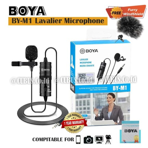 Foto Produk BOYA BY-M1 Lavalier Microphone micro for Smartphone, DSLR Camera,Video dari Cubus_Co_ID