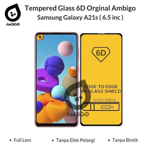 Foto Produk Tempered Glass 6D 9D Samsung A21s Full Cover Ambigo - Hitam dari Jagonya Case