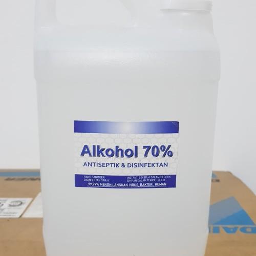 Foto Produk ALKOHOL 70% murni 1 liter, hand sanitizer, disinfektan dari SurabayaPlastik