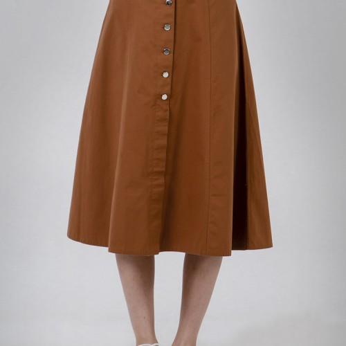 Foto Produk The Executive Midi Skirt 5-SDWKEY120C104 Khaki - Khaki, M dari The Executive Indonesia