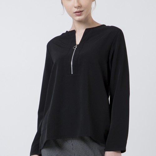 Foto Produk The Executive Basic Long Sleeves Blouse 5-BLWKEY120D012 Black - Black, XXL dari The Executive Indonesia