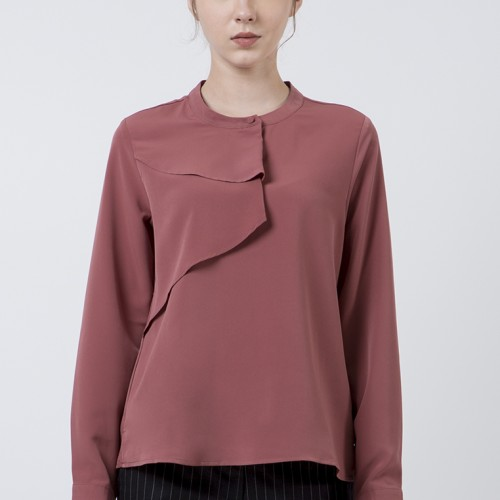 Foto Produk The Executive Plain Long Sleeves Blouse 5-BLWKEY120D014 Terracotta - Terracotta, S dari The Executive Indonesia
