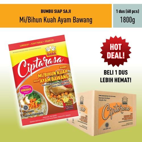 Foto Produk Bumbu Mi/ Bihun Kuah Ayam Bawang Ciptarasa Dus (60 pcs) dari BURUNG DARA OFFICIAL