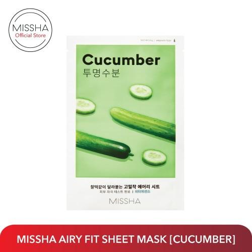 Foto Produk MISSHA AIRY FIT SHEET MASK (Cucumber) dari Missha Indonesia